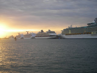 Cruise ships in Miami