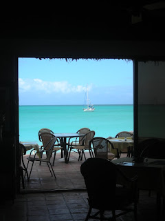 Rachel anchored off the Fernandez Bay resort