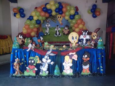 Baby Looney Tunes On Fixos E Buffet Opcional Decora O Festa Baby Looney  Tunes