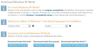 Mengenal  Program Aplikasi Windows Virtual PC dan Windows XP Mode