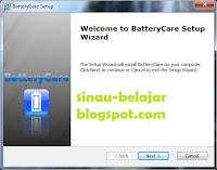 Merawat Baterai Notebook dengan BatteryCare