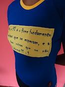 Camisa com aplicação em serigrafia