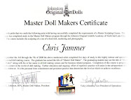 Master Doll Makers Certificate