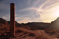 Column making the way to Egypt
