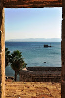 View of the Mediterranean from the city walls