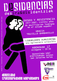 "2009-12-17 . ""DESEO Y RESISTENCIA"" LIBURUAREN AURKEZPENA DONOSTIAN"