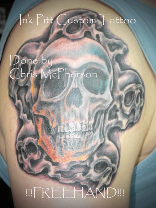 skull tattoos for men. Over the years, tattoos have