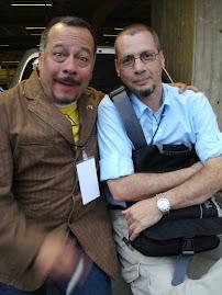 Con Humberto Vélez (Voz de Homero Simpson)