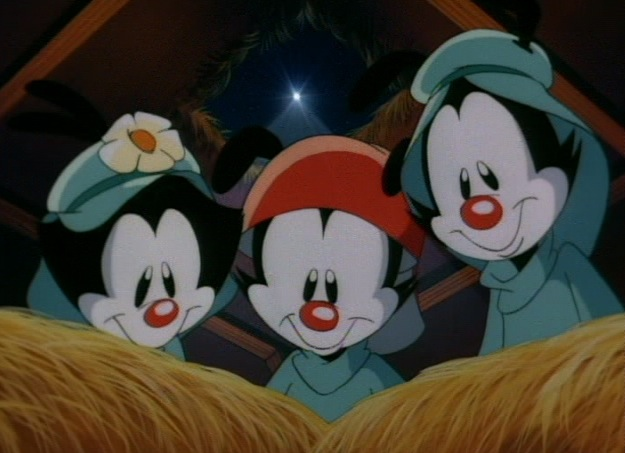 you can find 2 episodes devoted to the christmas season on the 2nd volume of the animaniacs dvd sets - Animaniacs Christmas