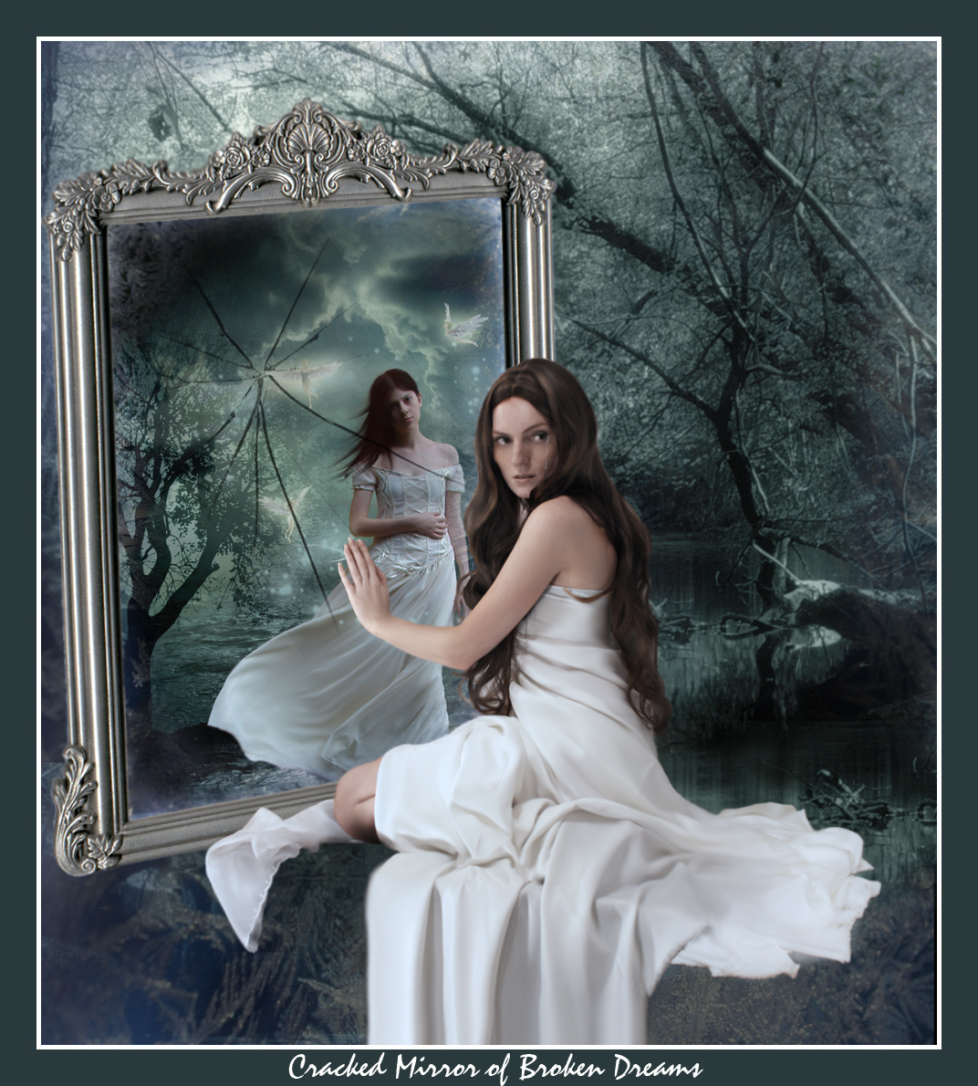 Unexpressed feelings girl in the mirror for Mirror reflection