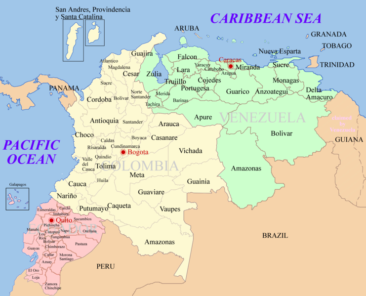 map of colombia. images Click the map to zoom