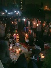 تحویل سال نو بیرون زندان اوین