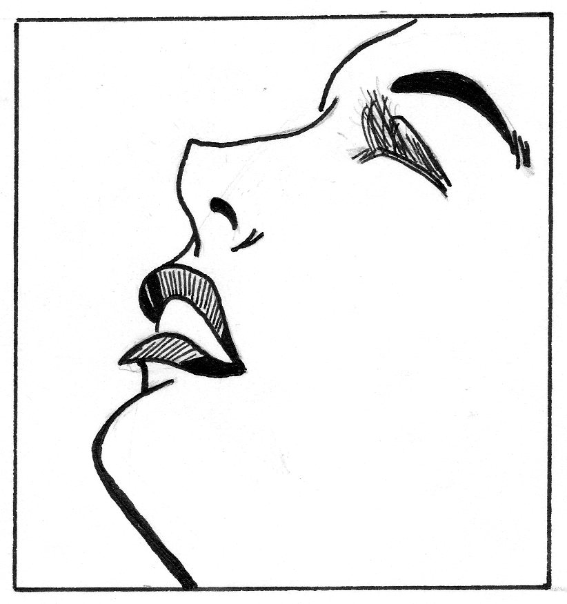 Estos son agunos dibujos sencillos de mujeres