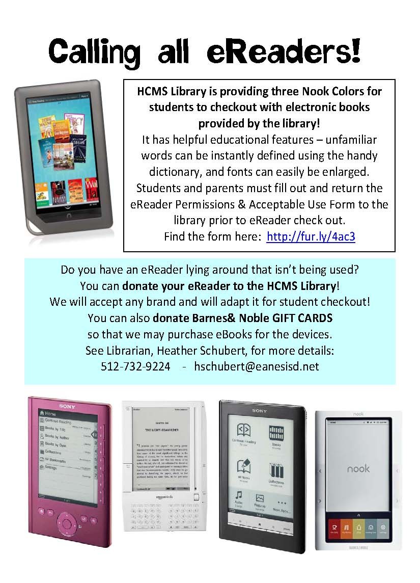 Student Checkout To Read Ebooks! We'd Love To Provide More Ereaders To  Students So We're Asking For Your Help! Donate Your Ereaders And Barnes &  Noble