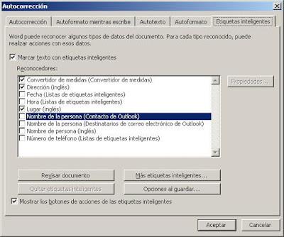Microsoft Word 2003: Autocorrección