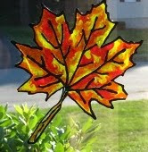 Leaf++Window+cling+craft How to Make Custom Window Clings