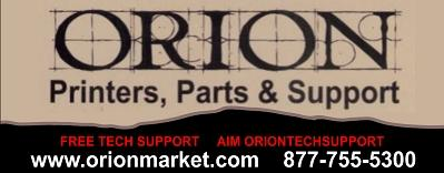 Orion Printers, Parts & Support