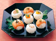 temarizushi 手 まり 寿司 lit ball sushi it is a ball shaped sushi ...