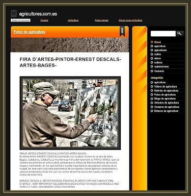 AGRICULTORES-ARTES-FIRA-ERNEST DESCALS-PINTOR