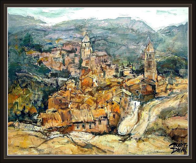 ALBARRACIN-TERUEL-PAISAJES-PINTURAS-ERNEST DESCALS