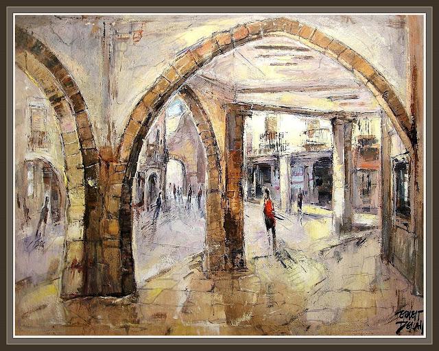 TARREGA-ERNEST DESCALS-CASCO HISTORICO-pinturas-ernest descals