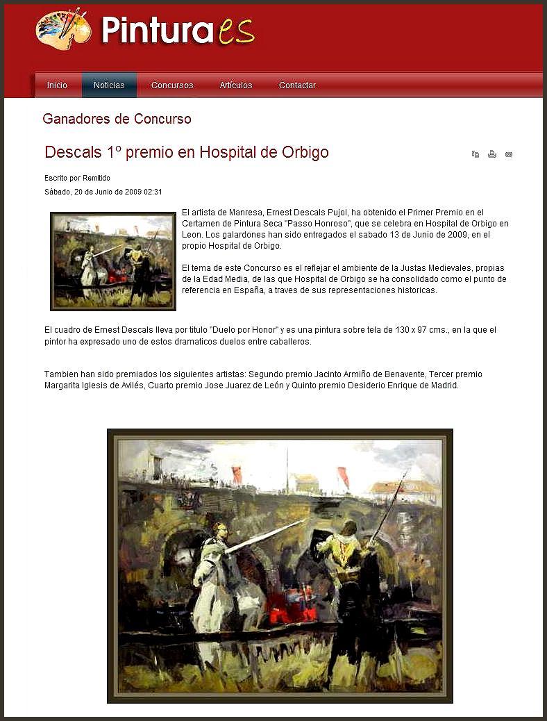 HOSPITAL DE ORBIGO-ERNEST DESCALS PRIMER PREMIO-PINTURA.ES
