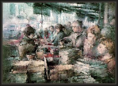mercat de sant antoni-barcelona-sala de arte-el quatre-granollers-ernest descals-pinturas