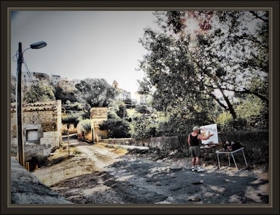 la senia-tarragona-paisaje-pueblo-ernest descals-pintar