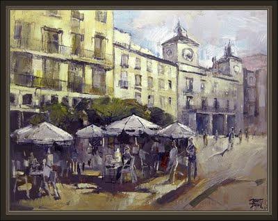 burgos-plaza del ayuntamiento-pinturas-ernest descals-cuadros