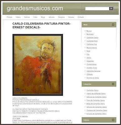 CARLO COLOMBARA-ERNEST DESCALS-GRANDES MUSICOS