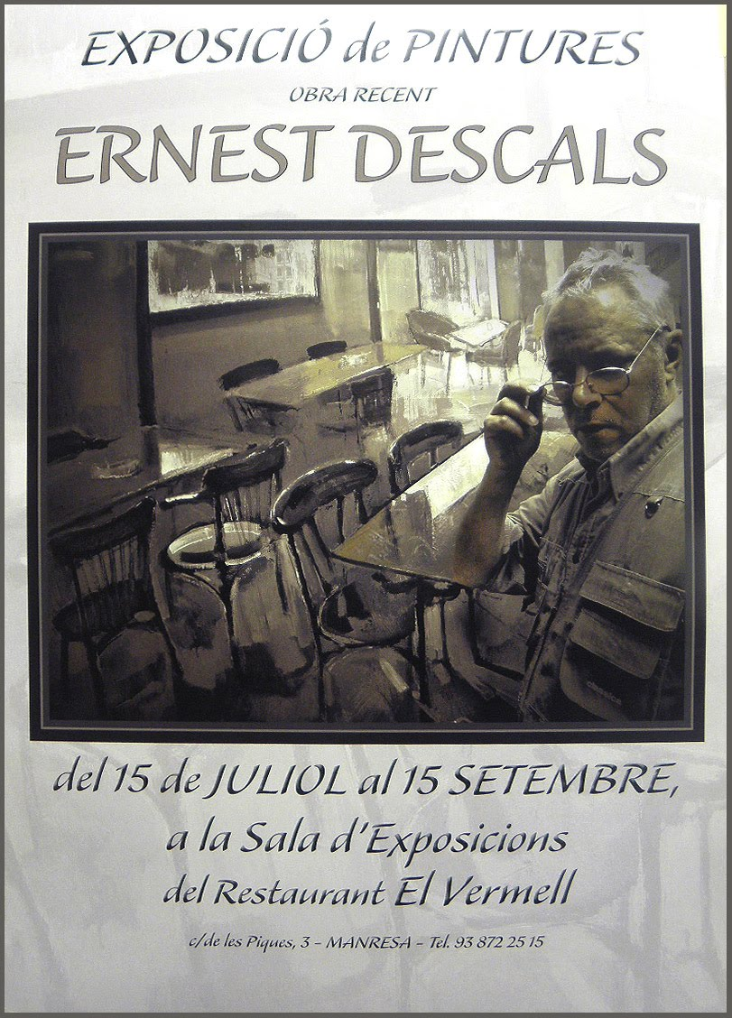 EXPOSICION-PINTURA-ERNEST DESCALS-SALA-EXPOSICIONES-RESTAURANT-EL VERMELL-MANRESA