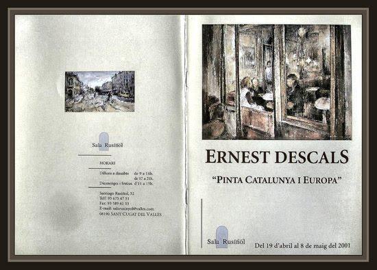 SANT CUGAT DEL VALLES-SALA RUSIÑOL-EXPOSICION-PINTURA-CATALOGO-ERNEST DESCALS