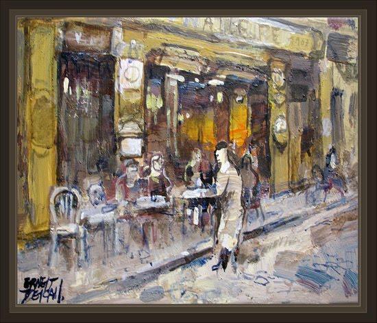 PARIS-MONTMARTRE-CAFETERIAS-CAFETERIA-DU-TERTRE-PINTURA-ARTE-PINTURAS-ERNEST-DESCALS