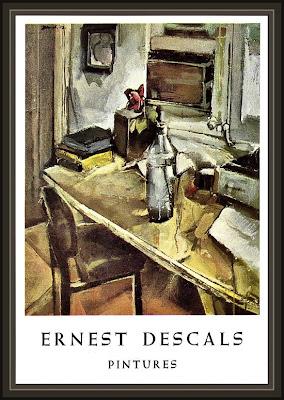 TERRASSA-AMICS DE LES ARTS-CATALOGO-EXPOSICION-PINTURA-ERNEST DESCALS