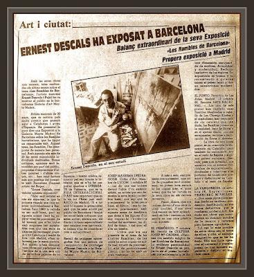 BARCELONA-MAYTE MUÑOZ-EXPOSICION-PRENSA-DIARIOS-PINTURA-ARTE-ERNEST DESCALS