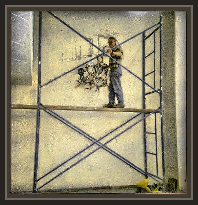 Ernest descals la historia del pintor pintura muralista - Trabajos de pintor en madrid ...