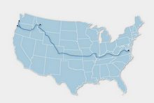 The Trans-American Bike Route