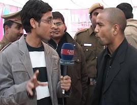 Boxer akhil kumar with Rajnish Kumar