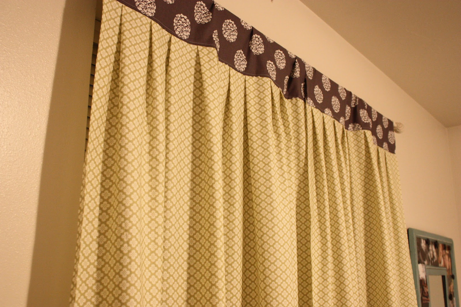 Attractive this is what your finished product will look like a pleated curtain with a top