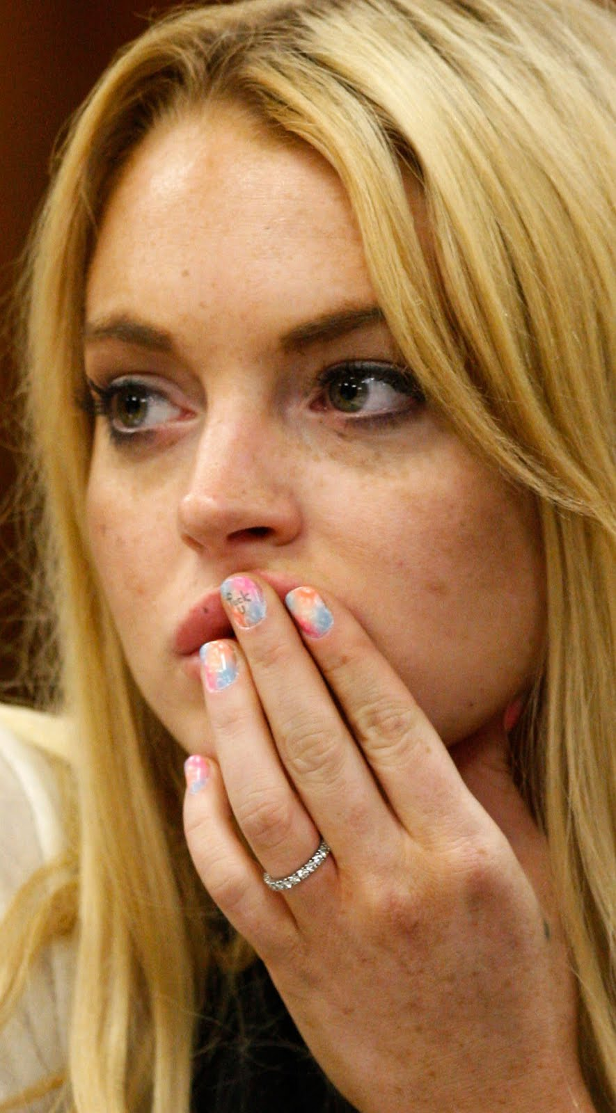 Lindsay Lohan Fingernail