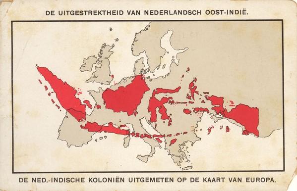 De nederlands indische koloni n uitgemeten op de kaart van for Indische tur