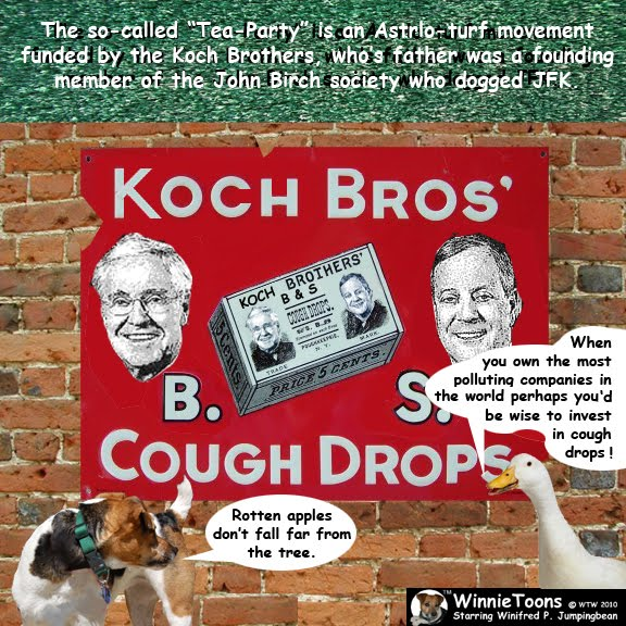 Koch money is almost like a drug winnietoons for The coke brothers tea party
