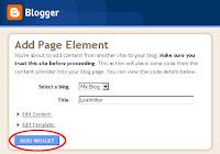 Entorno Blogger para añadir gadgets externos