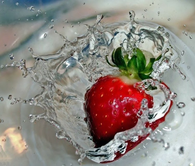 Strawberry on the water...