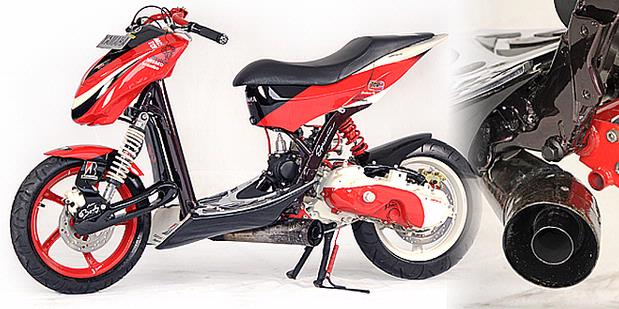 SINGLE LEG YAMAHA MIO MODIFICATION