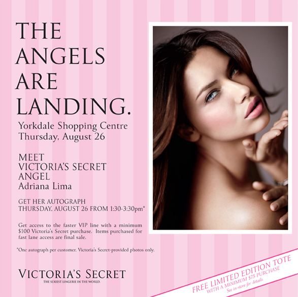 Meet Adriana Lima at the Victoria Secret Opening