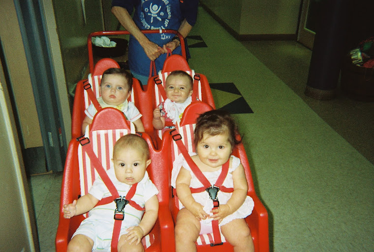 Baby Train back Left: Max and Lilly, Front Left Ethan and Lily