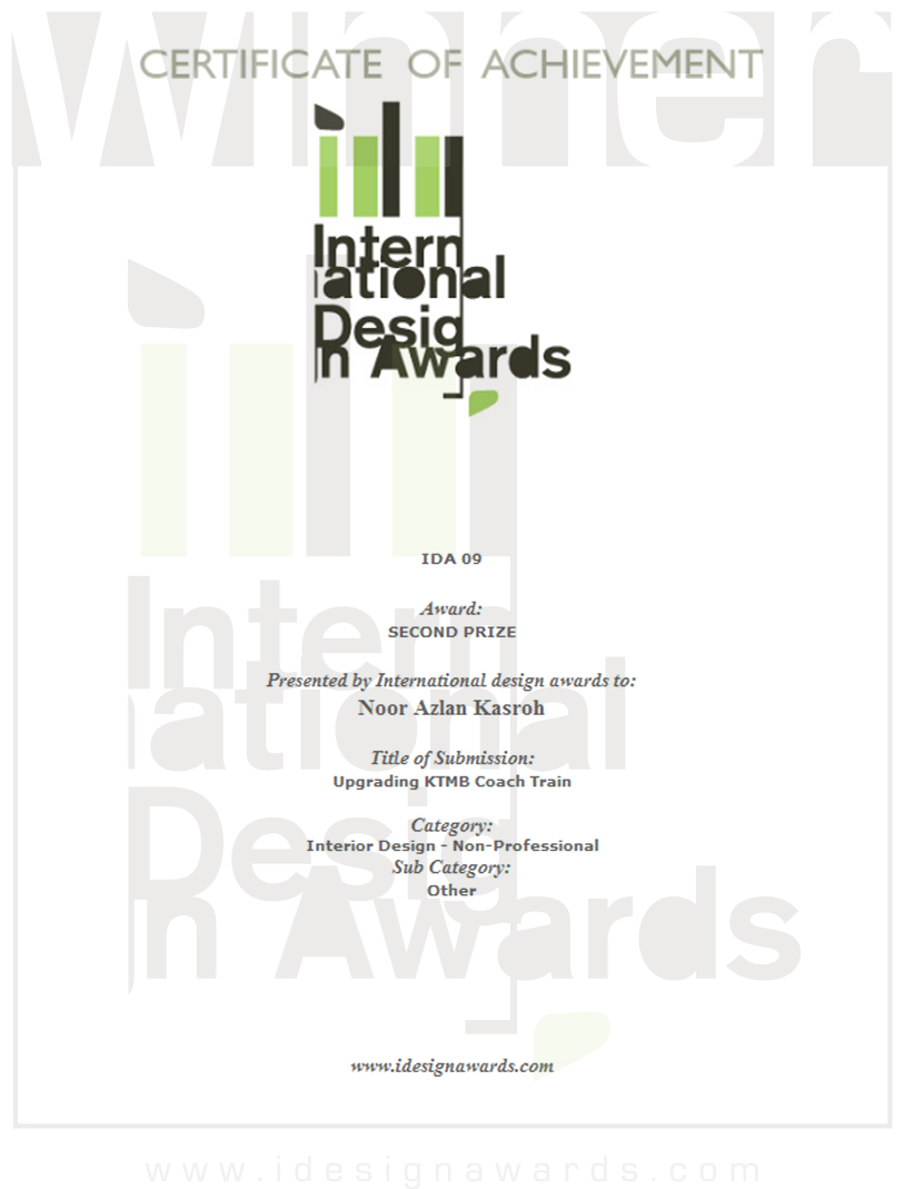 Certificate Of Interior Design rekabentuk azlan kasroh: june 2010