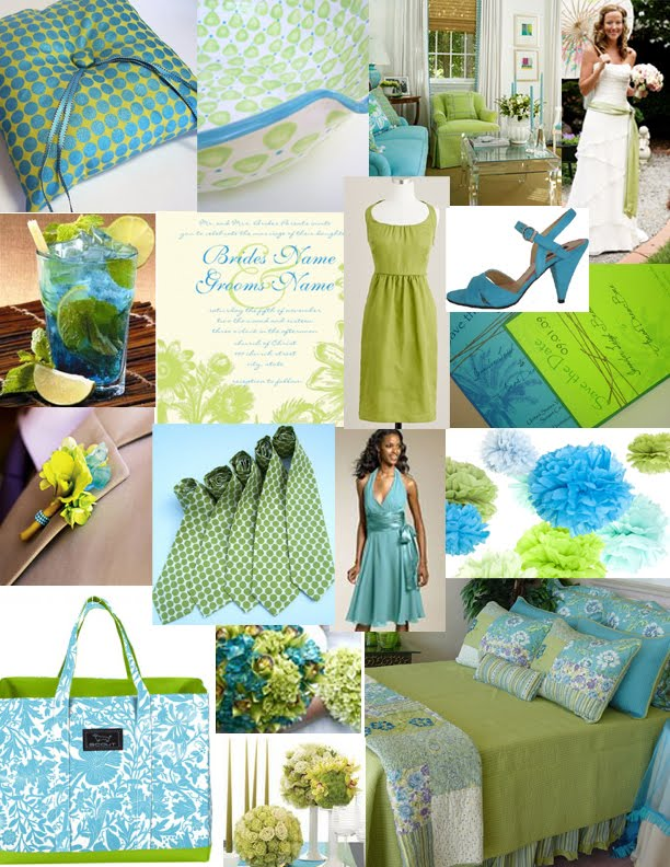 Teal and lime wedding
