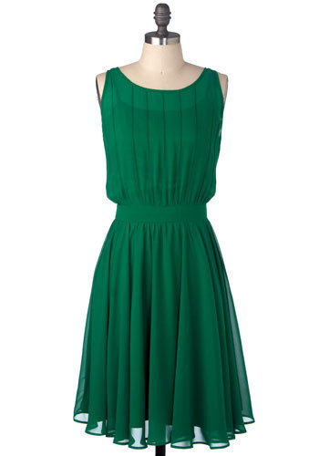 For a dressier occasion we love this green Grecian dress from ModCloth